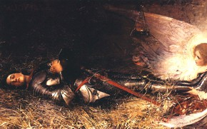 Picture Joy, 1895, George William, Wound of Joan of Arc