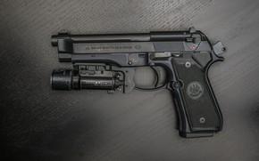 Picture background, flashlight, Beretta