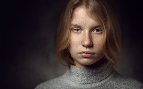Picture portrait, freckles, Lithuania, Vilnius, Portrait photography, Mindaugas Navickas, Terese