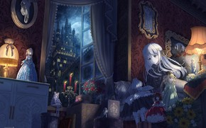 Picture Girl, Night, The city, Room, Doll