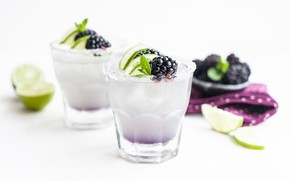 Picture ice, berries, cold, drink, delicious