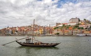 Picture river, boat, building, home, Portugal, Portugal, Vila Nova de Gaia, Porto, Port, the river Duero, …