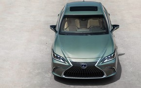 Picture front view, the view from the top, 300h, Lexus ES, 2019