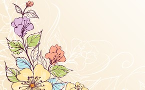 Picture texture, vector, flowers
