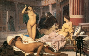 Picture erotic, picture, genre, Jean-Leon Gerome, Greek Interior