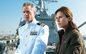 Picture Rhona Mitra, man, decorations, uniform, sailor, navy, survivors, scientist, tv series, medals, officer, Eric Dane, …