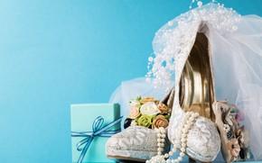 Picture shoes, beads, decoration, veil, wedding, decor, Valeria Maksakova