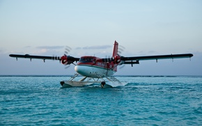 Picture water, landing, Airplane