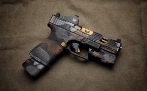Wallpaper gun, background, Glock, style
