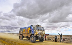 Picture Sand, Grass, Sport, Speed, People, Clouds, Race, Master, Dirt, Squirt, Russia, Kamaz, Rally, Dakar, Dakar, …