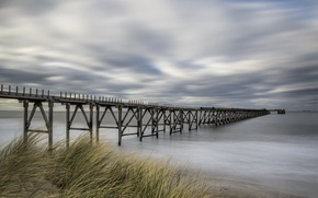 Picture sea, bridge, shore