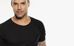 Wallpaper men, look, Ricky Martin, singer