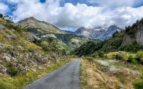 Picture Clouds, Road, Mountains