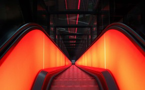 Picture Germany, escalator, Essen, The Ruhr Museum
