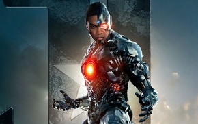 Wallpaper cinema, star, mecha, man, movie, hero, film, DC Comics, Cyborg, yuusha, Justice League, Ray Fisher