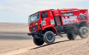 Picture Red, Sport, Truck, Race, Rally, Dakar, Dakar, Rally, The roads, 510, MAZ, MAZ, Contest