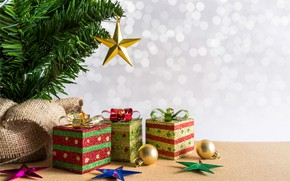 Picture holiday, new year, spruce, gifts