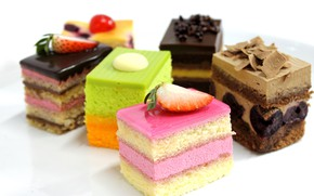 Picture chocolate, strawberry, cake, cream, dessert, sweet, delicious, glaze