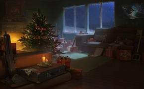 Picture New Year, Room, Tree, New Year, Beech, 2017, Buka