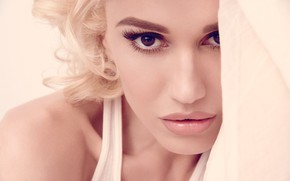 Picture eyes, look, face, style, hair, blonde, lips, Gwen Stefani