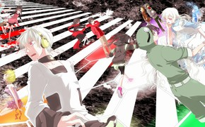 """Picture anime, characters, Kagerou Project, The project """"hot Fog"""", Project a Sultry mist"""