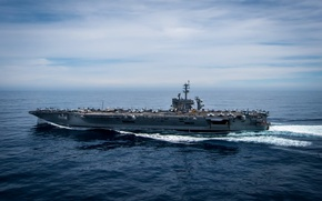 Picture USS Theodore Roosevelt, aircraft carrier, army, Navy, CVN 71