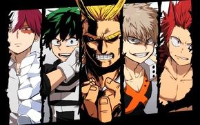 Wallpaper hero, powerful, oriental, asiatic, asian, red eyes, ice, seifuku, man, Boku no Hero Academy, japanese, ...