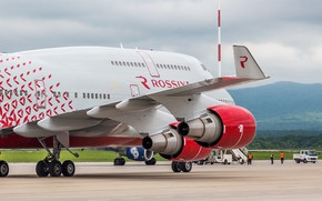 Picture Boeing, Russia, Russia, Boeing, 747, B-747, The airline, B-747