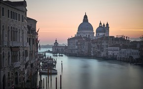 Picture sunset, the city, Venice