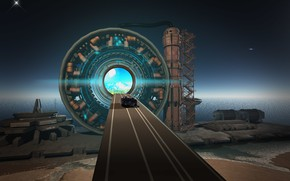 Picture road, the way, the portal, Highway to the Stars