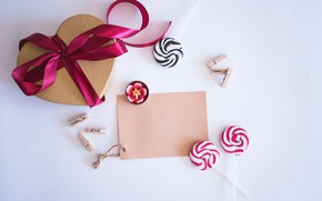 Wallpaper candy, gifts, Valentine's Day, gift, holiday, heart, Love