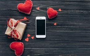 Picture Hearts, Holiday, Phone, Gift, Day Svatovo Valentine, Valentine's day