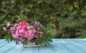 Picture flowers, background, bouquet, vase, flowers, background, wildflowers, vase, bouquet, Asian Buttercup, wildflowers, Asian Buttercup
