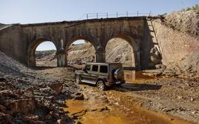 Picture bridge, stream, stones, Mercedes-Benz, SUV, breed, 2018, G-Class