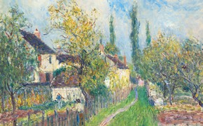 Wallpaper picture, landscape, Alfred Sisley, Track Europe, Alfred Sisley