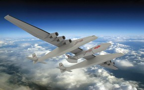 Picture Clouds, The plane, Rocket, The plane, 351, Stratolaunch, Stratolaunch Model 351, Model 351, American aircraft-carrier, …