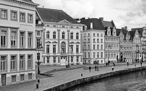Picture The city, Promenade, Building, Belgium, Belgium, Town, Ghent, Ghent, Graslei