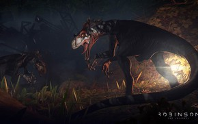 Picture game, predator, animal, fang, vegetation, claws, reptile, dinosaur, Robinson The Journey