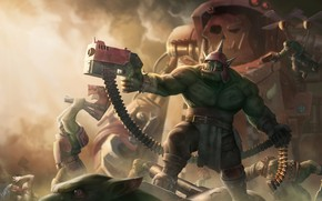 Picture fiction, war, Warhammer 40000, art, warhammer 40k, orks