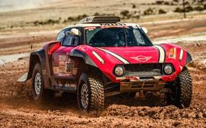 Picture Red, Auto, Mini, Sport, Machine, Race, Dirt, Rally, Dakar, Dakar, SUV, Rally, X-Raid Team, 305, ...