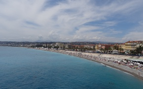 Picture France, The sky, Sea, Beach, Nice
