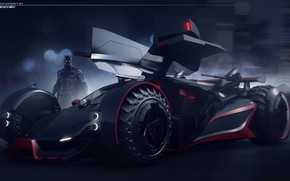 Picture front, car, batmobile concept