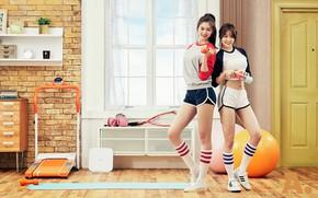 Wallpaper pilates, activewear, girls, fittness