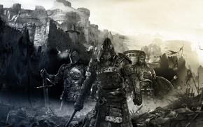 Picture Castle, Sword, Warrior, Samurai, Armor, Knight, viking, Samurai, Viking, Knight, For the honor, ForHonor