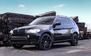 Picture BMW, Black, Wheels