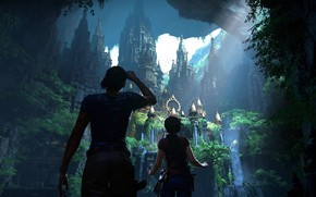 Picture game, woman, Uncharted, vegetation, Uncharted: The Lost Legacy