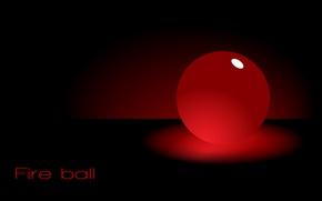 Wallpaper red, ball, the Wallpapers, fireball, Fire ball