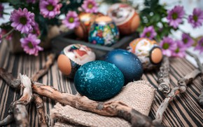 Picture flowers, eggs, Easter, eggs