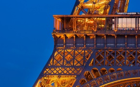 Picture the sky, light, the city, France, Paris, the evening, Eiffel tower