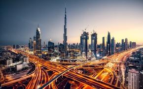 Picture light, lights, the evening, excerpt, Dubai, UAE